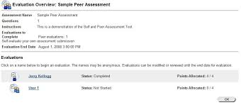 blackboard u0027s self and peer assessment tools teaching with technology
