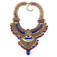 choker collar necklace vintage images Vintage bohemian coin bead tassel choker collar bib necklace chain jpg