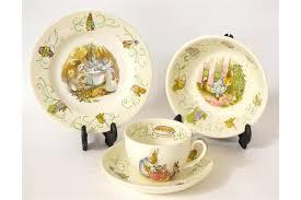 wedgwood rabbit tea set wedgwood rabbit breakfast set comprising a tea cup and