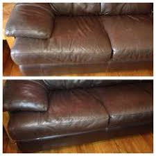 Leather Sofa Discoloration Bought This Loveseat Secondhand For 150 He Mixed A 50 50