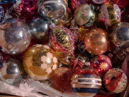 antique glass christmas tree ornaments stock photo picture and