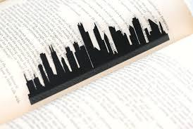 Chicago illinois hand cut silhouette bookmark chicago