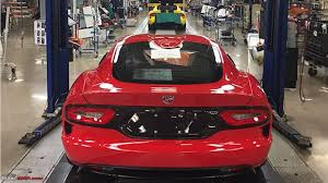 Dodge Viper V12 - final dodge viper rolls off the production line team bhp