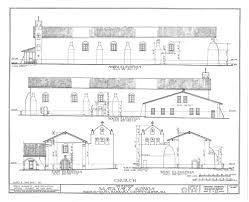 catholic church floor plan designs 08 arch drawing church side and front santa ines jpg 1000 814