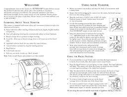 Sunbeam 2 Slice Toaster Download Sunbeam Tssbtr2sbk 2 Slice U0026 4 Slice Extra Wide Slot
