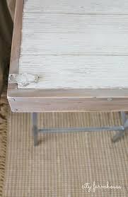 Diy Door Desk by Diy Rustic Chic Industrial Bartsool Desk City Farmhouse