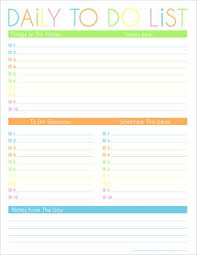 10 more free printable daily planners time management