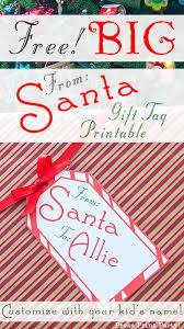 big free printable christmas gift tag press print party