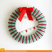 washi tape embroidery hoop holiday card wreath child at heart blog