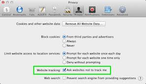 do not track universal web tracking opt out