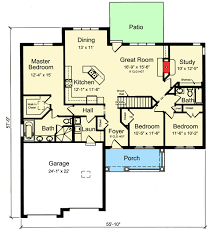 one split bedroom house plan 39225st architectural designs
