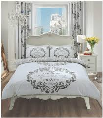 Paris Gray Bedroom Set Script Paris Modern Duvet Cover Floral Bedding Set Single Double