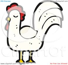 cartoon of a rooster chicken royalty free vector illustration by