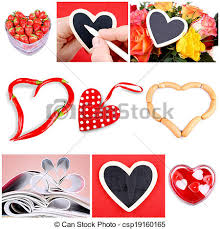 heart shaped items collage of nine pictures of different heart shaped items
