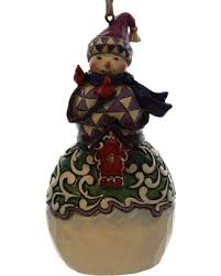 fall sale jim shore snowman with birdhouse resin ornament