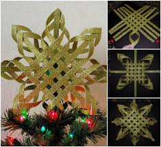 creative ideas diy woven paper snowflake ornaments paper