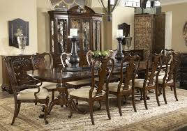 dining room contemporary square brown varnished oak wood dining