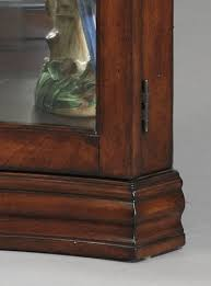 Corner Curio Cabinet Australia Concave Corner Curio Cabinet In Gallery Brown By Pulaski Home