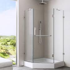 Neo Shower Door Vigo 36 X 36 Frameless Neo Angle Clear Shower Enclosure And White