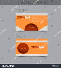 business card set template business identity stock vector