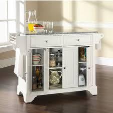 white kitchen island with granite top crosley furniture kitchen islands carts shop crosley islands