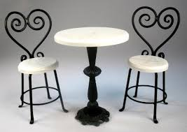 Black Metal Bistro Chairs Amazing Of White Bistro Table And 2 Chairs Vintage Metal Bistro