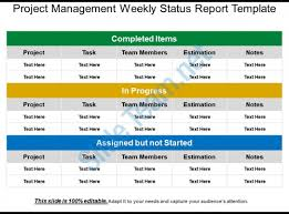 weekly report template ppt project management weekly status report template templates