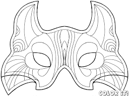 african mask coloring pages cat face mask template virtren com