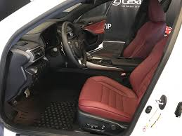 white lexus red interior used 2017 lexus is 350 4 door car in edmonton ab l13114