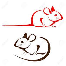 rat clipart outline