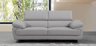 Light Gray Leather Sofa by Valencia 3 Seater Taupe Grey H8587 Sofashop Com