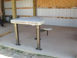 precast concrete shooting benches