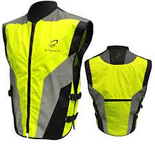 fluorescent cycling jacket black hi vis reflective motorbike vest high visibility motorcycle