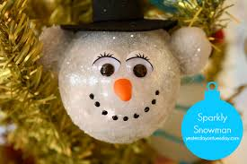 sparkly snowman ornament yesterday on tuesday