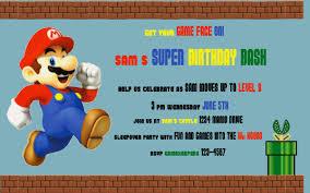 mario invitations kids birthday invitation wording feliciaday us