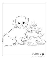 christmas puppy coloring 2 animal jr
