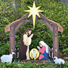 Outside Decorations For Christmas Walmart by Outdoor Nativity Set At Walmart Decor Pinterest Outdoor