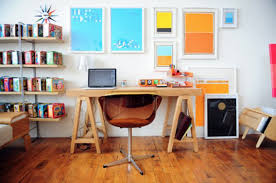 decorating cool computer desks with interesting shelving idea for