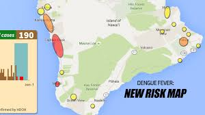 Map Of Hawaii Big Island Dengue Fever Cases Jump To 190 New Hawaii Risk Map Released