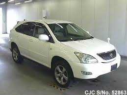 japan used car toyota lexus 2003 toyota harrier pearl for sale stock no 52863 japanese