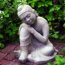 resting buddha garden statue