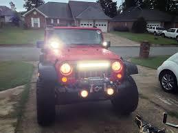 led light bar jeep wrangler lifetime led wrangler 21 5 in 40 led light bar j19600 87 17