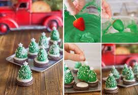 chocolate covered strawberry christmas trees diy recipe alldaychic