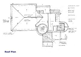 roof plan drawing blueprint roof architect designs roof house