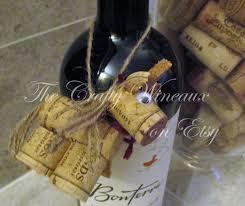 rustic unicorn wine cork ornament in poinsettia red the crafty