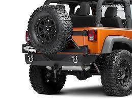 jeep wrangler jk tires barricade wrangler trail hd rear bumper w tire carrier