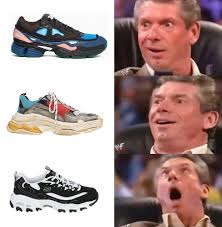 Meme Sneakers - this meme perfectly represents how people react to dad swag shoes