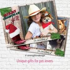 dog cat christmas photo cards custom printed 5x7 flat 2 sided