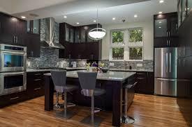 furniture minimalist kitceh with l shaped espresso kitchen