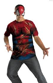 spider man mask and t shirt costume set